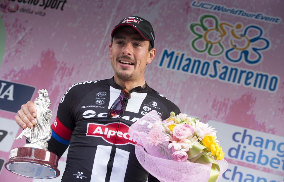 John Degenkolb after winning 2015 Milan-San Remo (picture ANSA, Claudio Peri).jpg