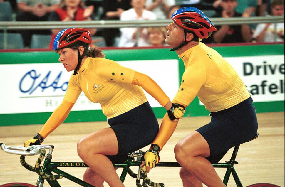 Kerry and Kieran Modra at 2000 Sydney Paralympics (picture licensedCC BY-SA 3.0 by Australian Paralympic Committee)