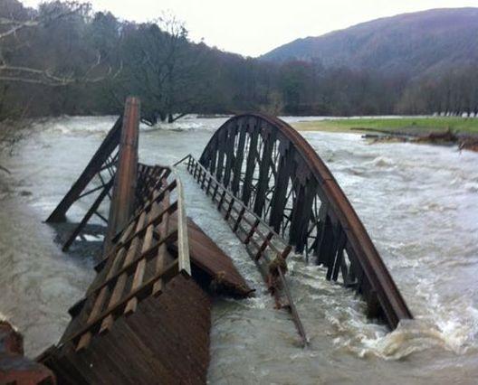 Cumbria Floods Destroy Bridge On C2c Cycling Route Road Cc