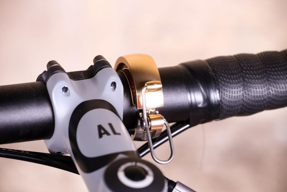 Knog Oi Luxe Bell Brass S - on bike 1.jpg