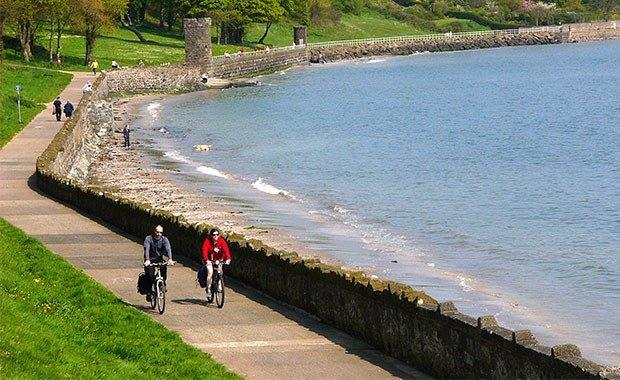 The Lagan and Lough route at Newtownabbey in Northern Ireland - the last maps to complete the UK series. Credit Robert Ashby. Sustrans