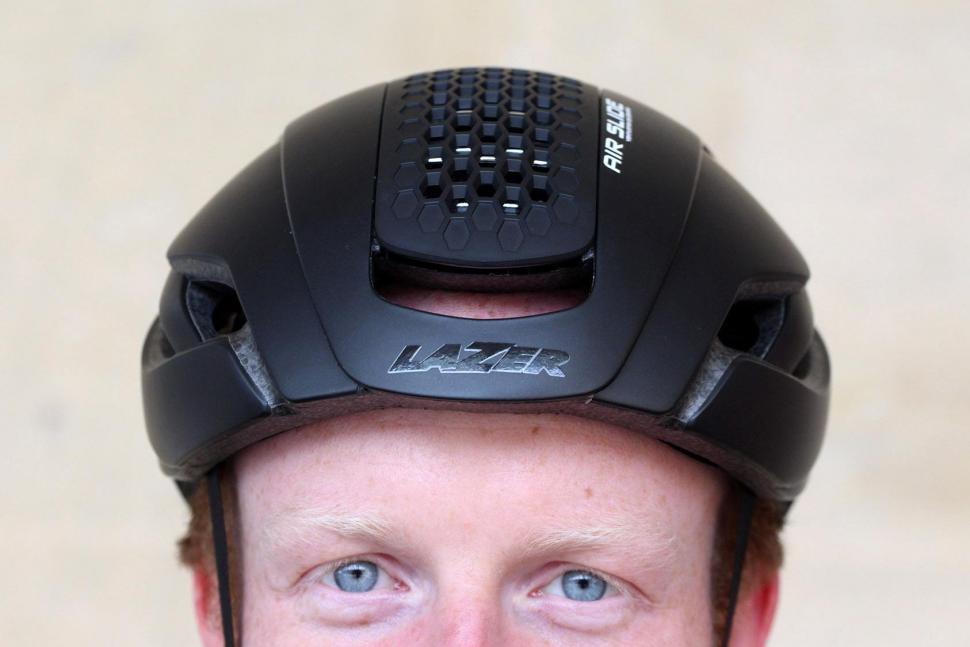 Lazer Bullet helmet - front vent open.jpg