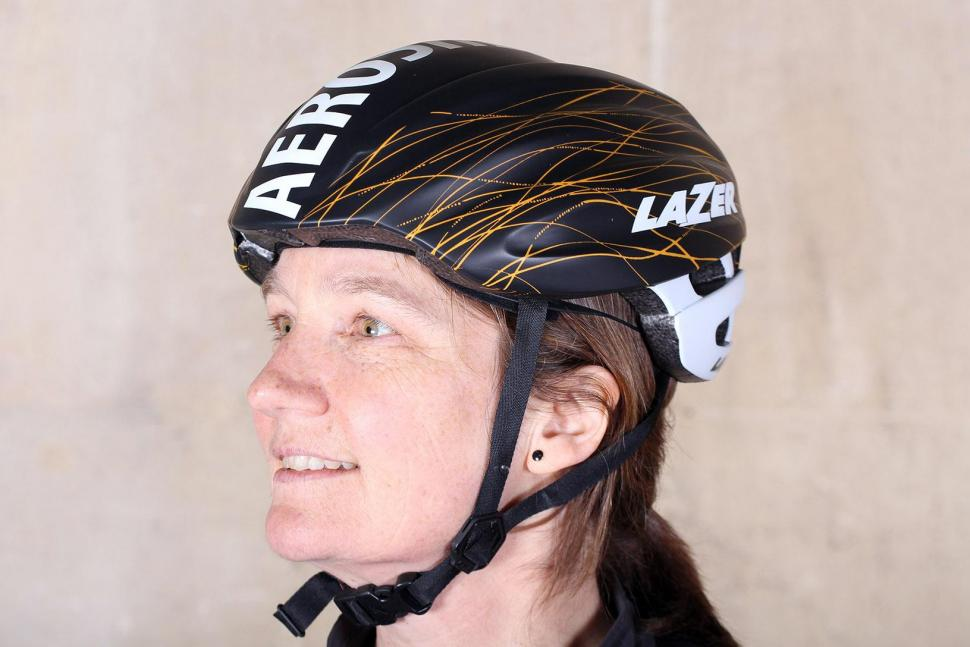Lazer Cosmo helmet with Aeroshell - aeroshell on.jpg