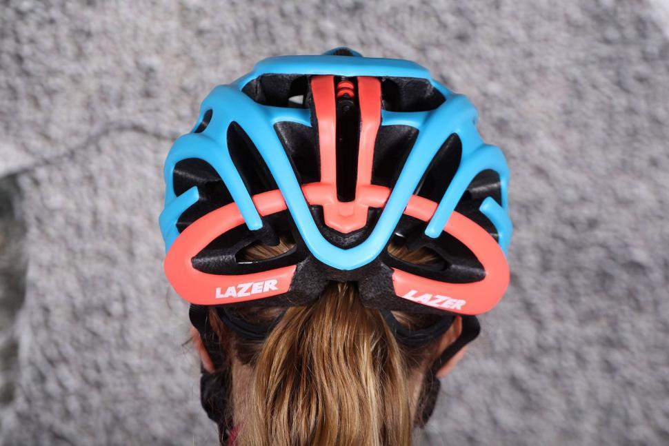 Lazer Elle Blue Coral Womens Helmet - back.jpg
