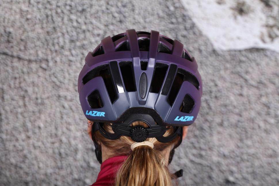 Lazer Elle Matt Bordeaux Gradient Womens Helmet - back.jpg