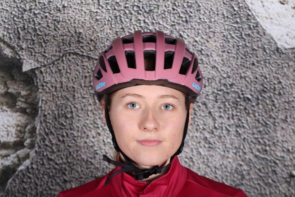 Lazer Elle Matt Bordeaux Gradient Womens Helmet - front.jpg
