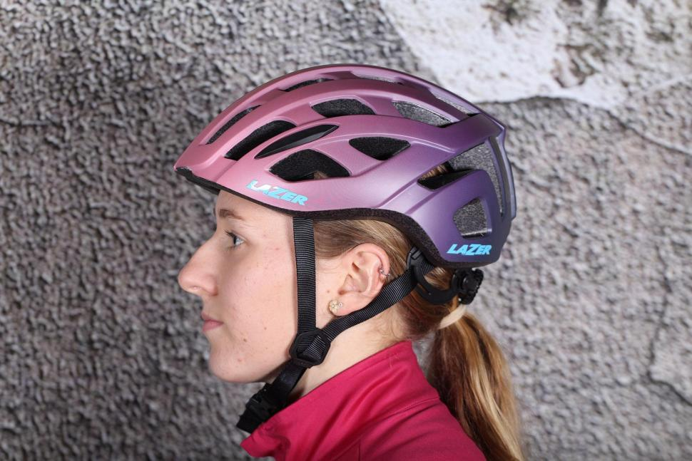 Lazer Elle Matt Bordeaux Gradient Womens Helmet - side.jpg