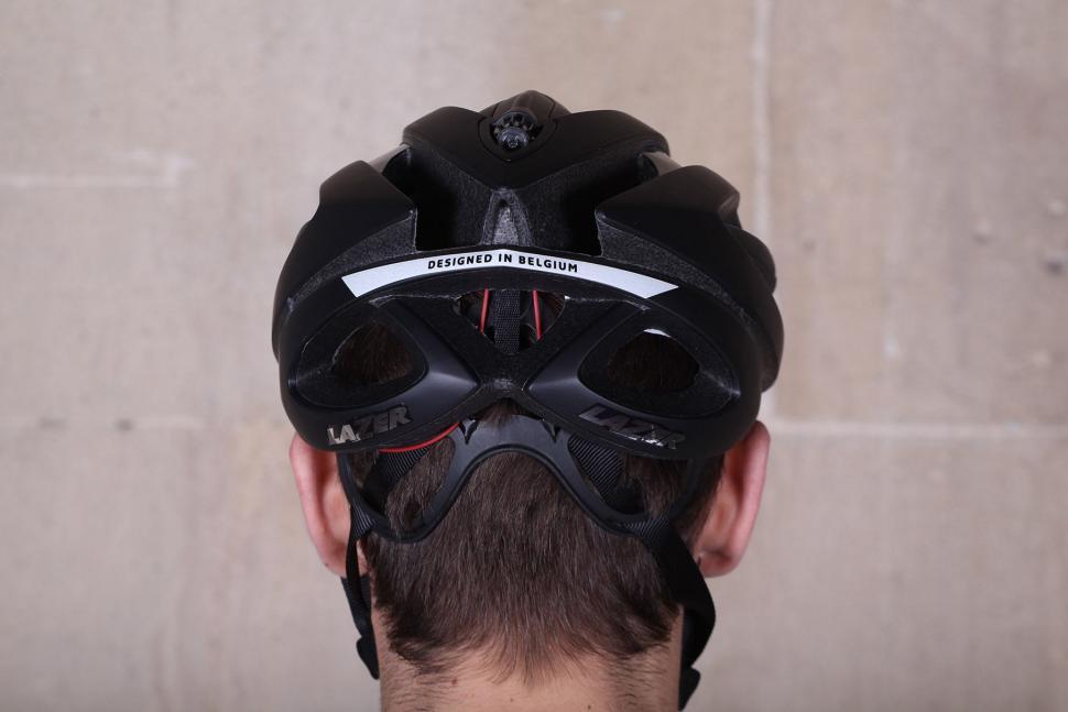 Lazer Genesis matt black medium helmet - back.jpg