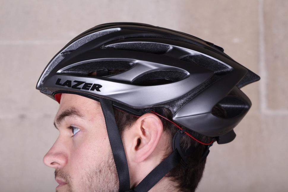 Lazer O2 Matte Titanium Helmet - side.jpg