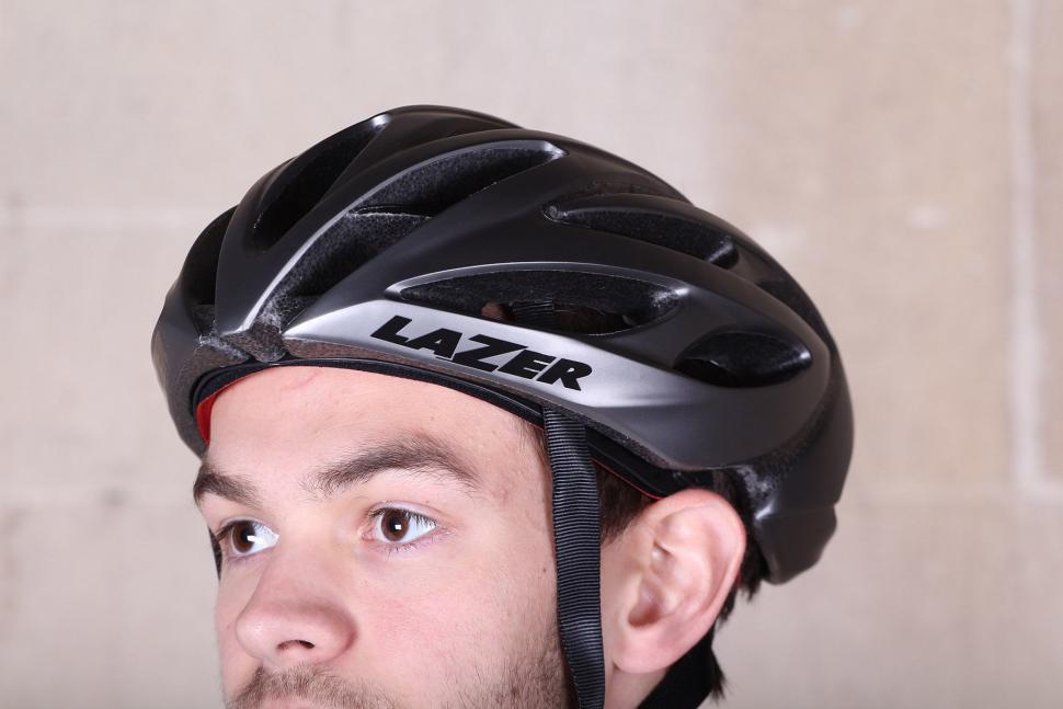 Lazer O2 Matte Titanium Helmet - worn.jpg