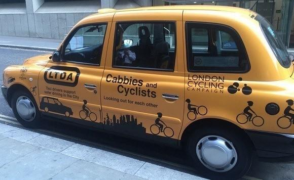 LTDA cab looking out for cyclists