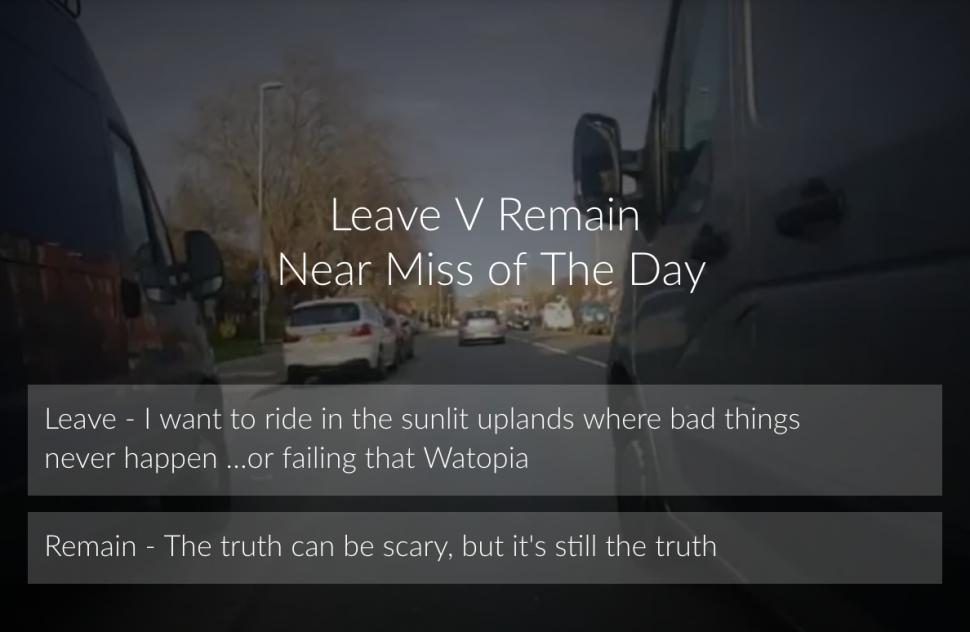 1955c4f0bfb2 Live blog: Leave Vs Remain poll – Near Miss of The Day; Cycle path apple  tree vandals offered olive branch; woefully-timed overtake by driving  instructor; ...