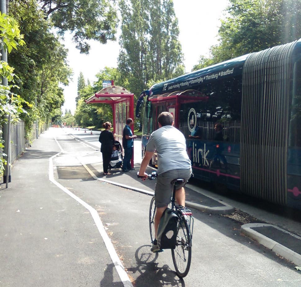 Leeds Bradford cycle superhighway bus stop bypass.jpg