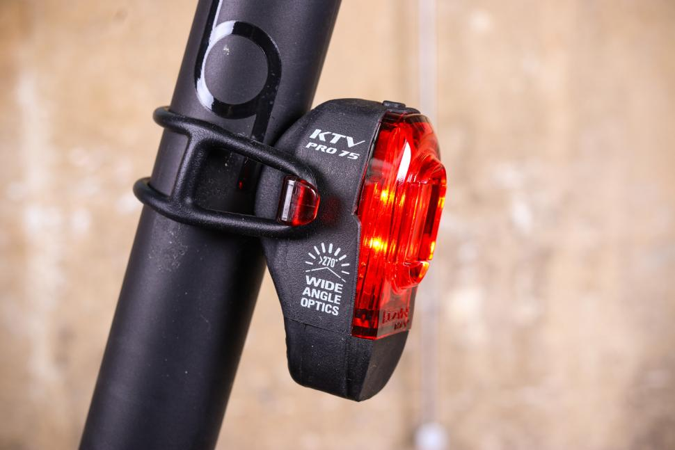 Bicycle Red LED Safety Light with 7 Modes with Seat Post Mount