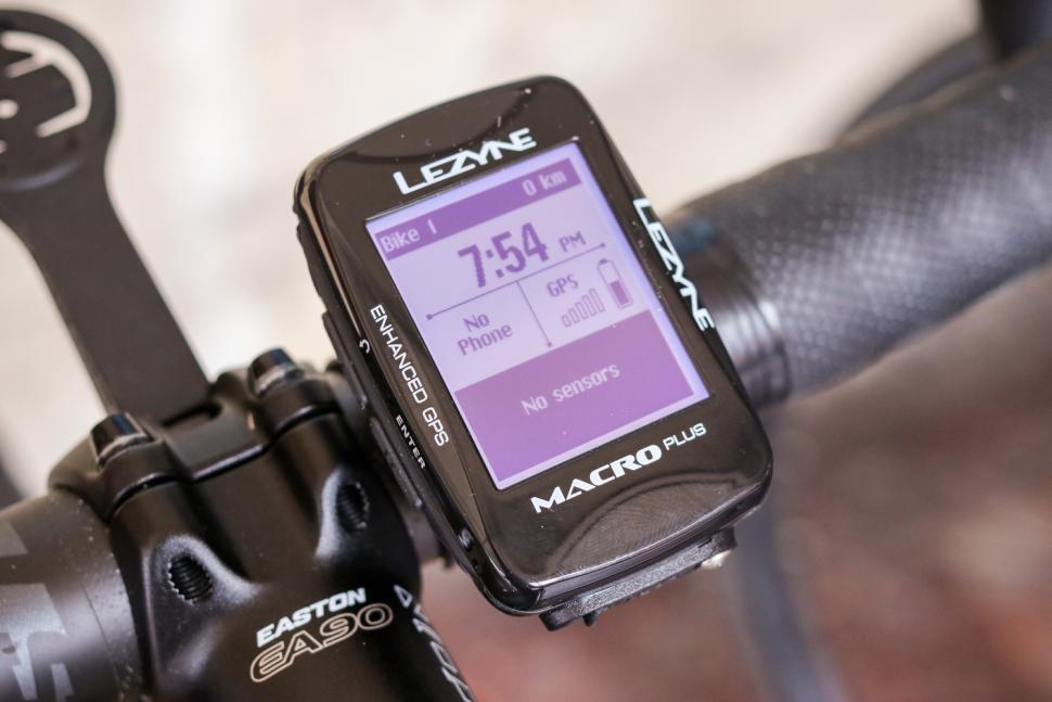 Lezyne Macro Plus GPS cycling computer - on bars 1.jpg