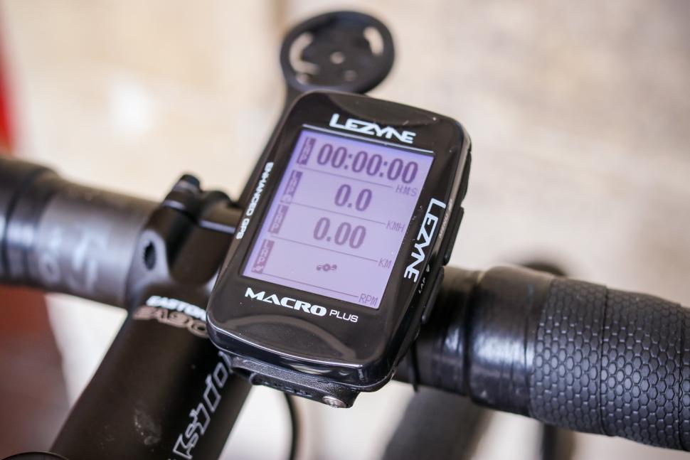 Lezyne Macro Plus GPS cycling computer - on bars 4.jpg