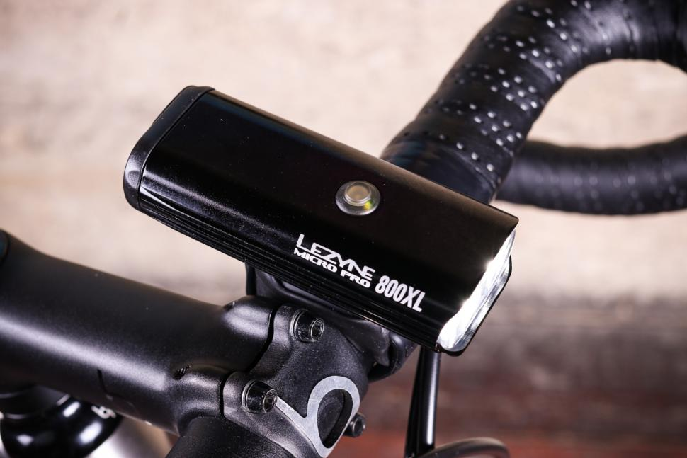 Black Lezyne Micro Drive 450XL LED Bike Headlight USB Rechargeable 450 Lumens