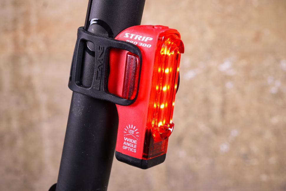 Red Lezyne Strip Drive Pro 300 Light Rear