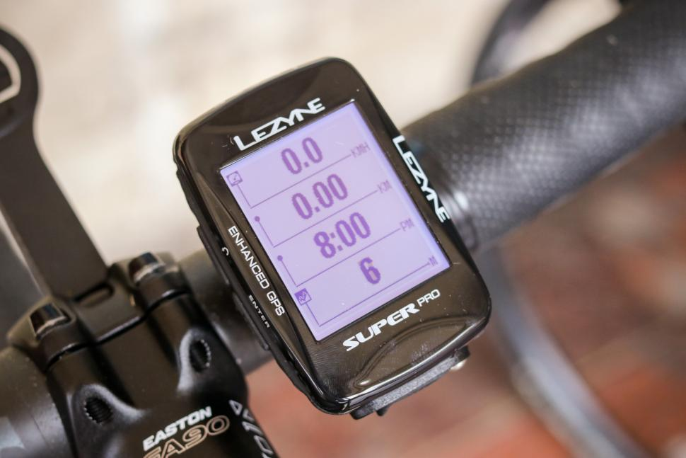 Lezyne Super Pro GPS cycling computer - on bars 5.jpg
