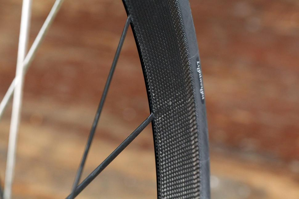 18785f73fed Lightweight Meilenstein Carbon Clincher Disc - spokes.jpg