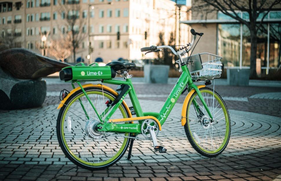 lime ebike green