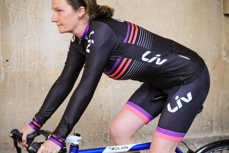 Liv Race Day Mid-Thermal Long Sleeve Jersey - riding.jpg