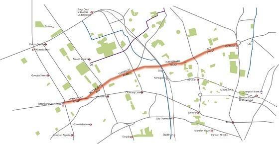London Boulevard route map