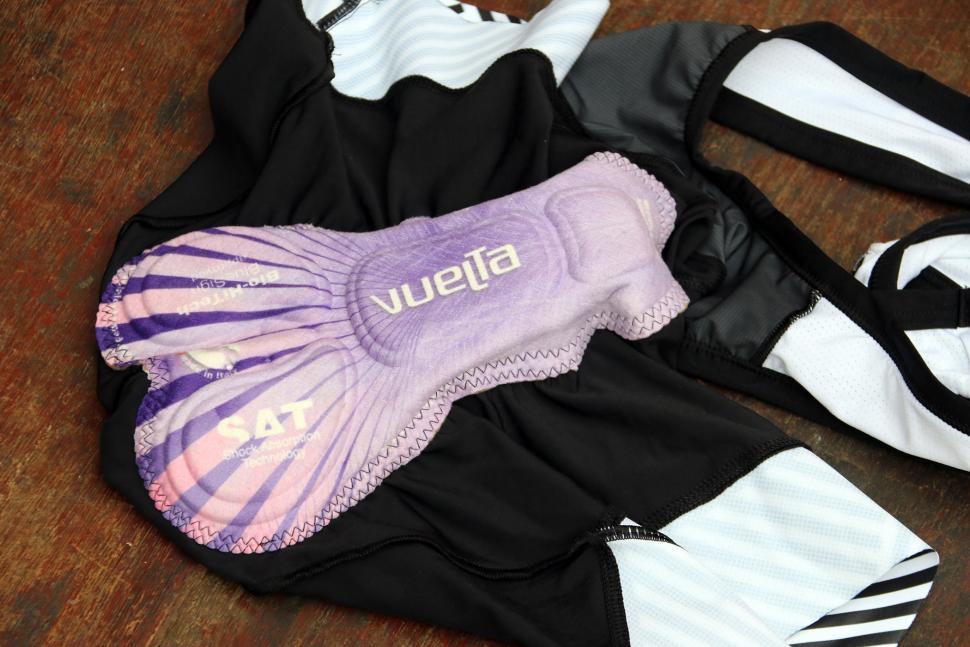 Lusso Ladies Bib Shorts Stripes - pad.jpg