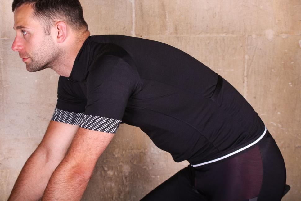 Lusso Merino short sleeve jersey - riding.jpg