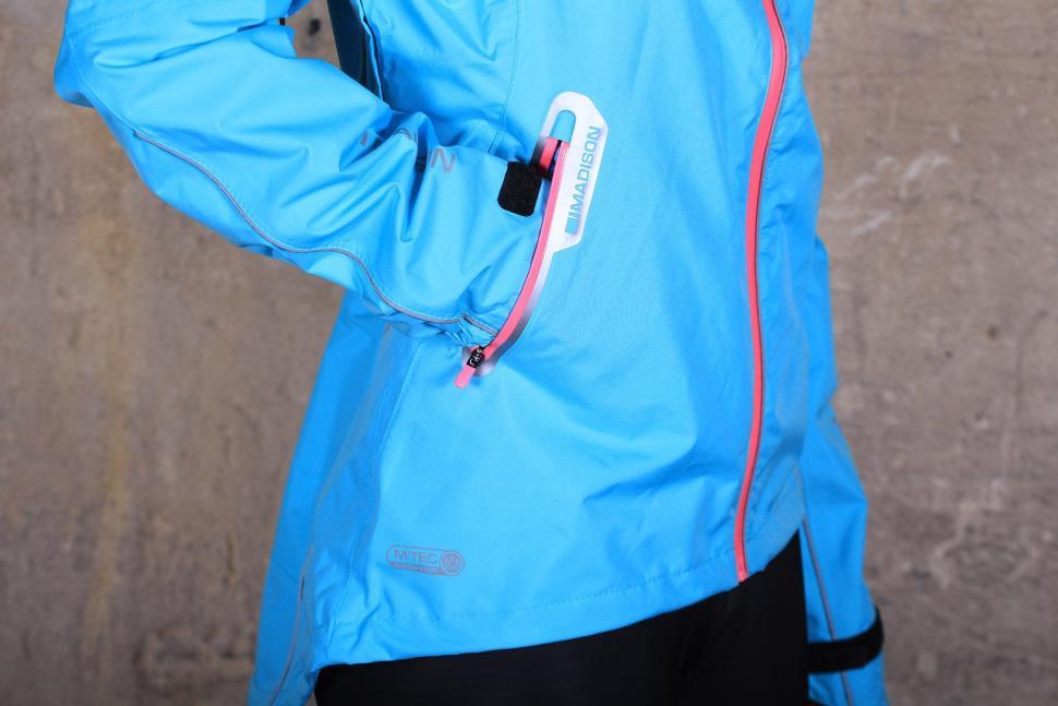 Madison Prima Womens waterproof jacket - front pocket.jpg