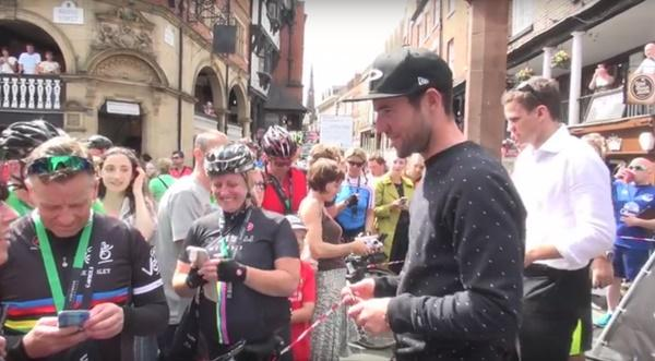 Mark Cavendish at 2015 Rise Above Sportive (taken from YouTube).jpg