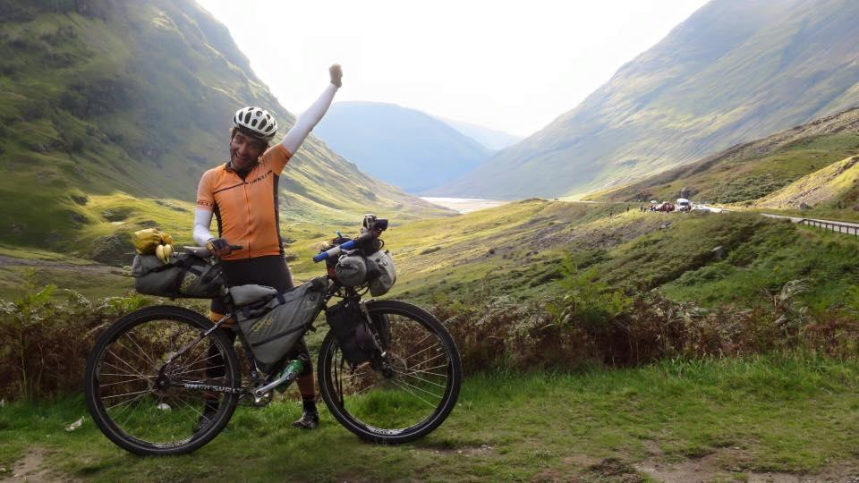 Markus Stitz in Glencoe near end of his round the world ride (source Markus Stitz on Facebook).jpg