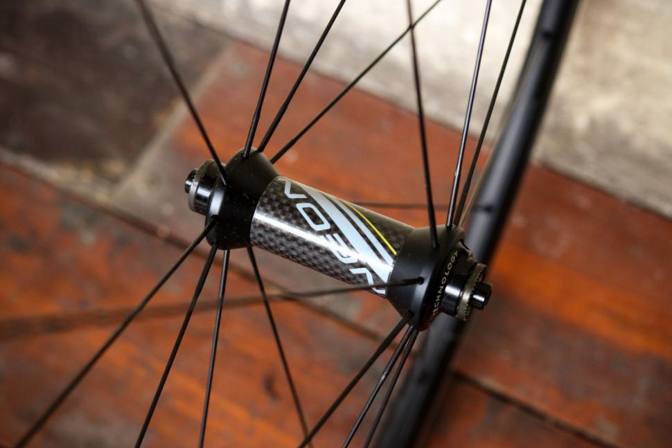 Miche Neon Black on Black Wheels - front hub.jpg