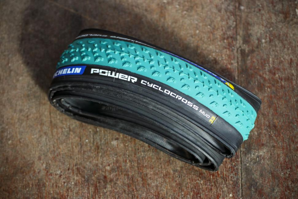 Michelin Power Cyclocross Bike Mud Tire 700 X 33C Folding Tubeless Ready Green
