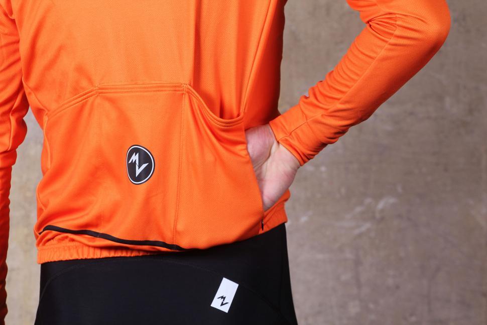b7f85e814 Morvelo Bloc Orange Thermoactive Jersey - side pocket.jpg