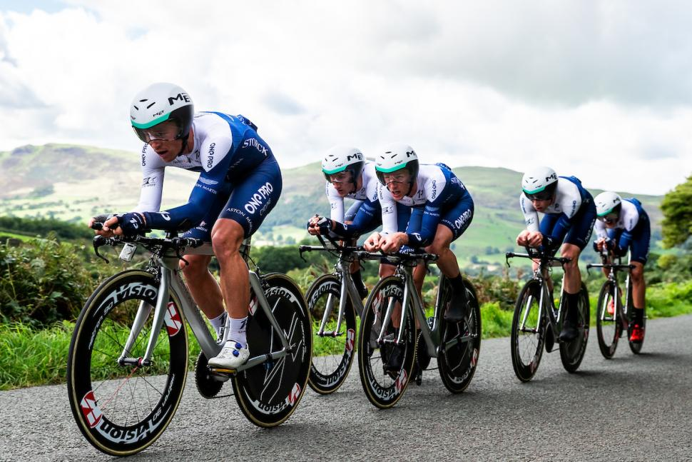 One Pro Cycling at the 2018 Ovo Energy Tour of Britain (picture credit Alex Whitehead, SWPix.com)