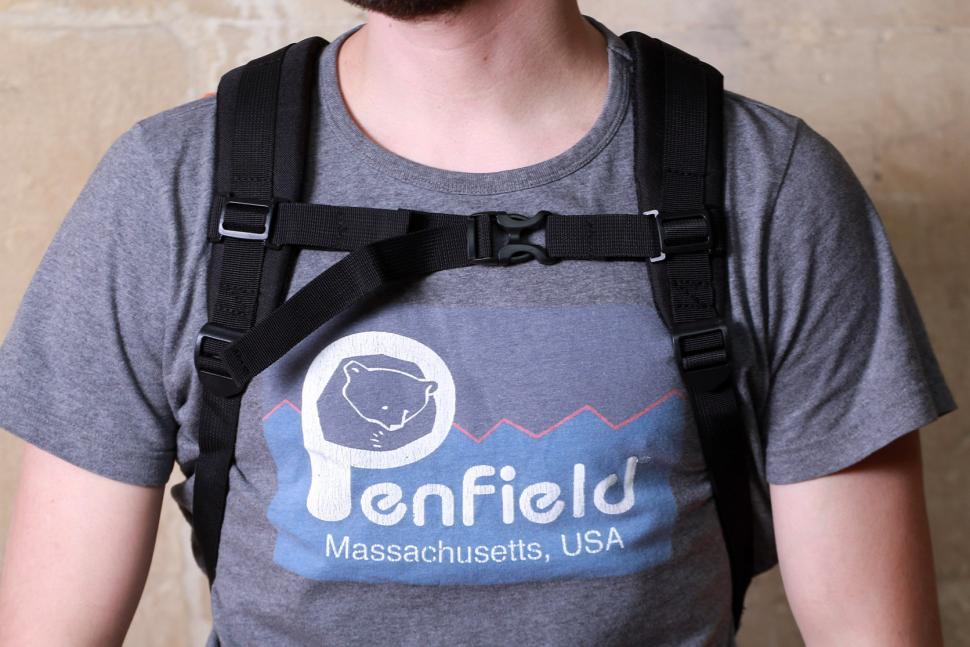 Oxford Aqua12 Backpack Orange - worn straps.jpg