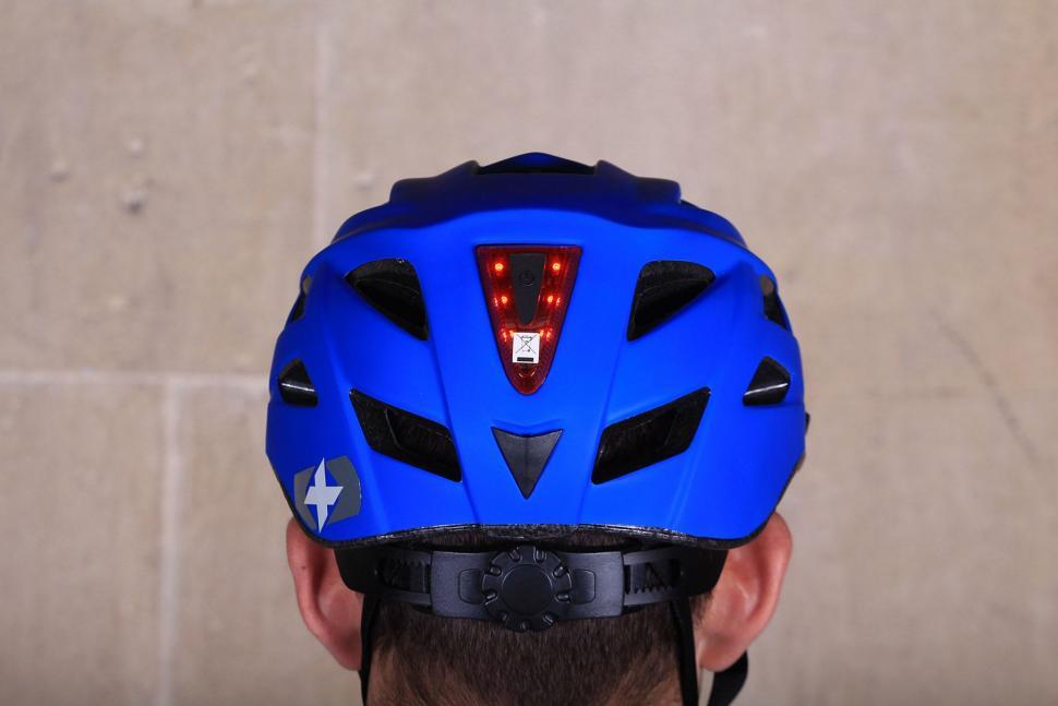 Oxford Metro-V Helmet Matt Blue - back light on.jpg