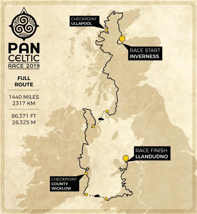Pan Celtic Race route