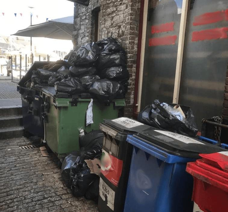 PedalBins - Plymouth alleyway