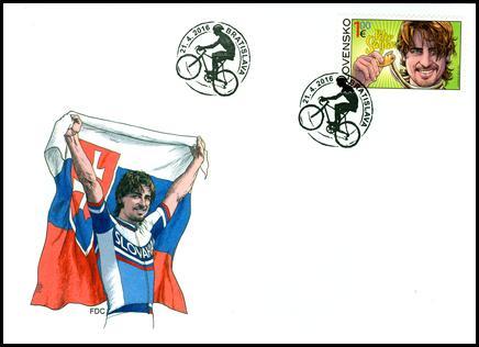 Peter Sagan 1 eurio stamp first day cover.JPG