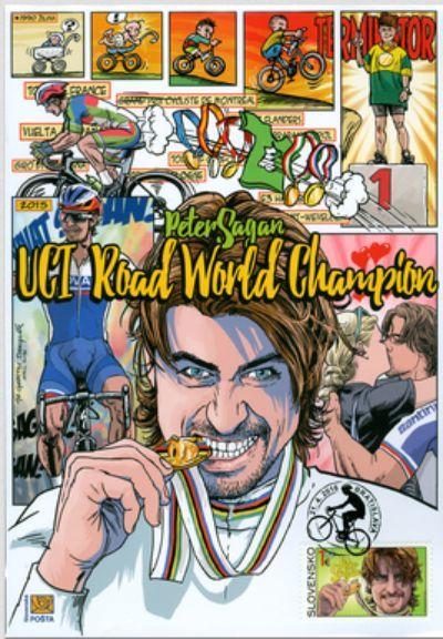 Peter Sagan 1 eurio stamp road world champion.JPG
