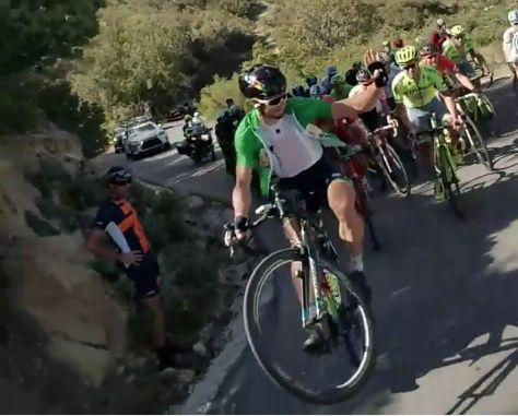 Peter Sagan Tour of California wheelie Instagram video still (user Ron Hirshman).JPG