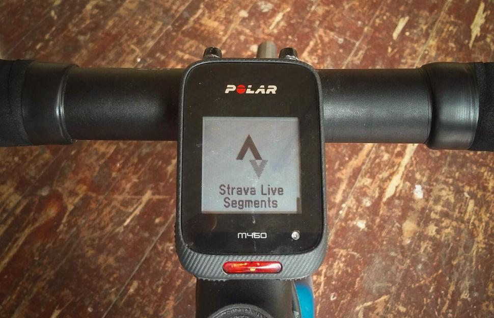 Polar M460 GPS Bike Computer - screen strava live.jpg