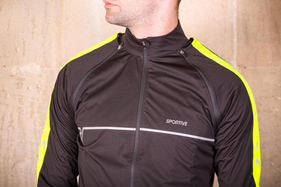 Proviz Sportive Convertible Men's Cycling Jacket Gilet - chest.jpg