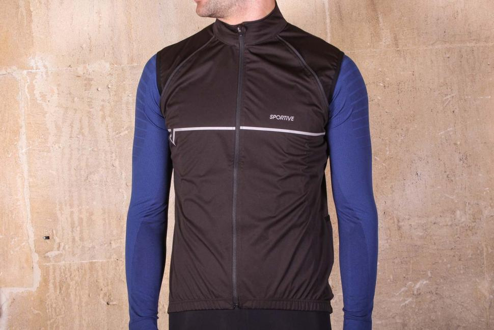 Proviz Sportive Convertible Men's Cycling Jacket Gilet - no sleeves.jpg