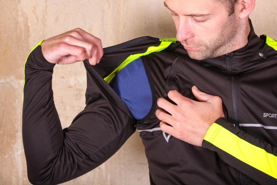 Proviz Sportive Convertible Men's Cycling Jacket Gilet - removing sleeves.jpg