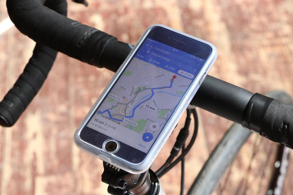 Quad Lock Bike Kit for I Phone 7 - mounted top.jpg