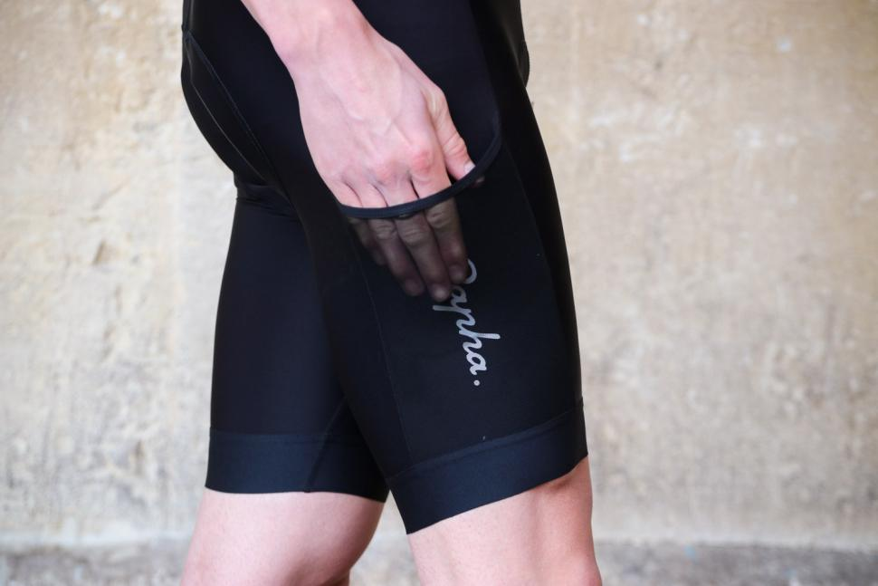 Rapha Core Cargo Bib Shorts - side pocket.jpg