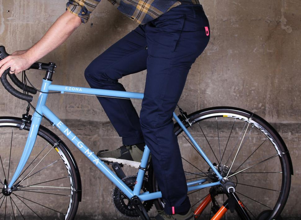 Rapha Cotton Trousers - riding.jpg